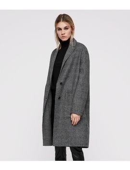 Anya Check Coat by Allsaints