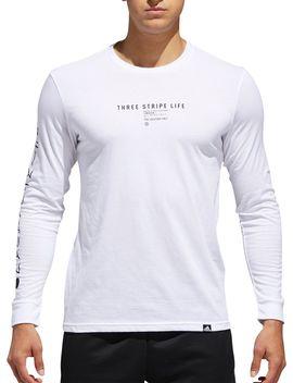 Adidas Men's International Logo Long Sleeve Tee by Adidas