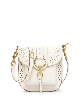 Ilana Perforated Leather Saddle Bag by Frye