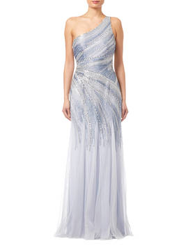 Adrianna Papell Beaded Mermaid Gown, Serenity by Adrianna Papell