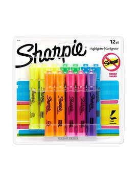 Sharpie 25006 Tank Style Highlighters, Chisel Tip, Fluorescent Orange, Box Of 12 by Sharpie