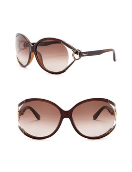 61mm Butterfly Sunglasses by Salvatore Ferragamo