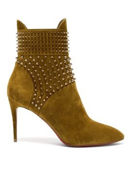 Hongroise Studded Suede Boots by Christian Louboutin