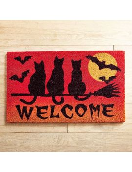 Scary Cat Welcome Doormat by Midnight Carnival Collection