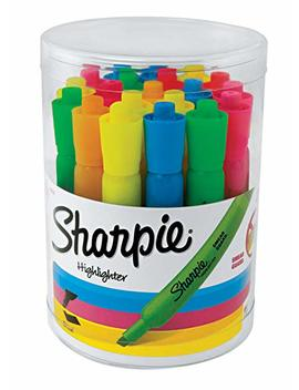 Sharpie Tank Highlighters, Chisel Tip, Assorted Fluorescent, 20 Count (25018) by Sharpie