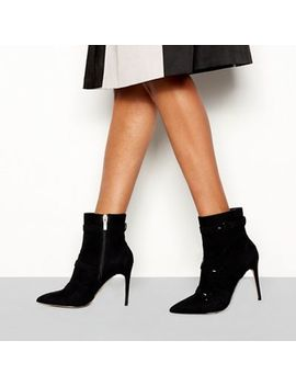 Faith   Black Suedette 'biletto' Stiletto Heel Boots by Faith