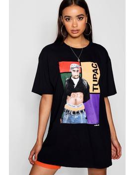 Tupac Print Oversized T Shirt Dress by Boohoo