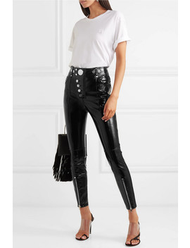 Glossed Leather Skinny Pants by Alexander Wang