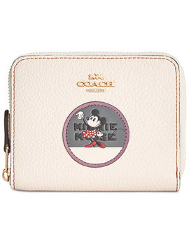 Minnie Patches Boxed Small Zip Around Wallet by Coach