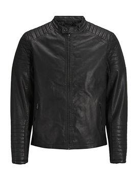 Faux Leather Biker Jacket by Jack & Jones