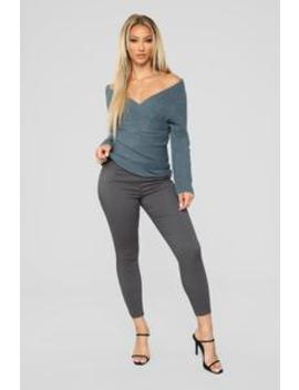 Favorite Feel Stretch Legging   Charcoal by Fashion Nova