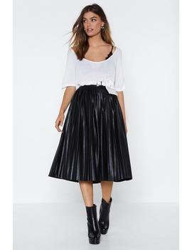 We Aim To Pleat Faux Leather Skirt by Nasty Gal
