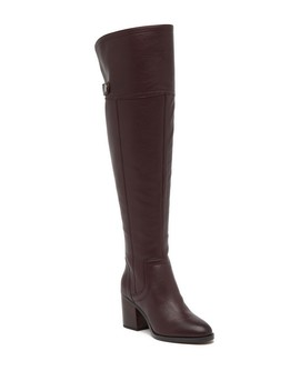 Ollie Leather Over The Knee Boot   Wide Calf by Franco Sarto