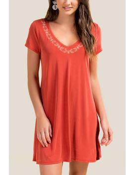 Chloe Embroidered Knit Dress by Francesca's