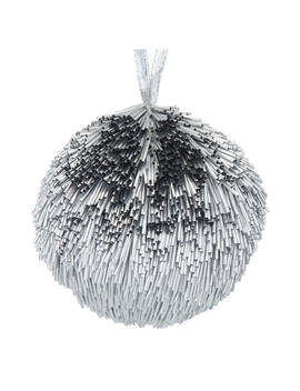 John Lewis & Partners Jet Textured Bauble, Silver by John Lewis & Partners