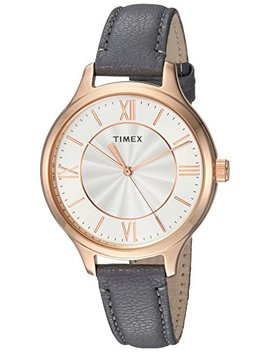 Timex Women's Peyton Leather Strap Watch by Timex