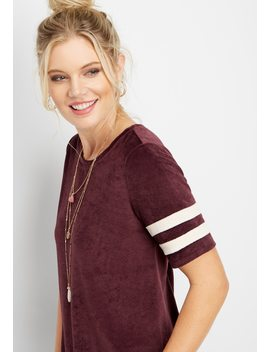 24/7 Velvet Baseball Tee by Maurices