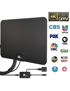 1byone Hdtv Antenna Hd Digital Indoor Tv Antenna Upgraded Version 50 80 Miles by 1byone