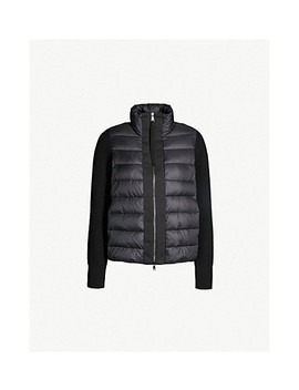 Knit Panel Padded Shell Down Jacket by Moncler