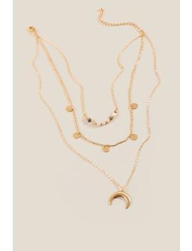 Harmony Layered Bullhorn Pendant Necklace by Francesca's
