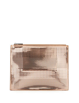 Perforated Zip Pouch Bag by Neiman Marcus