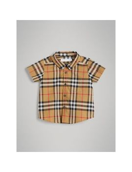 Short Sleeve Vintage Check Cotton Shirt by Burberry