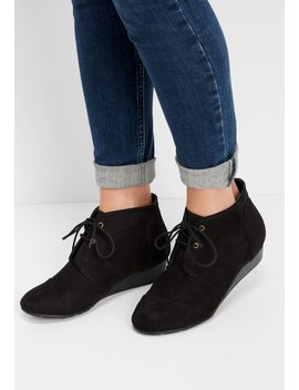 Mia Sarah Lace Up Wedge Bootie by Maurices