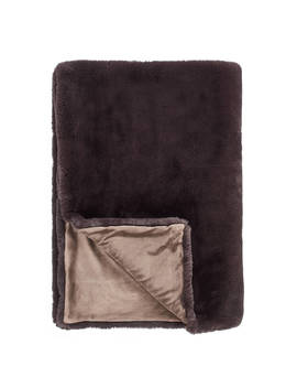 John Lewis & Partners Faux Fur Throw, Dark Grey by John Lewis & Partners