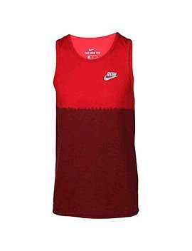 Nike Men's Dri  Fit Dip Tie Dye Running Tank Top Red Ombre 922174 657 by Nike