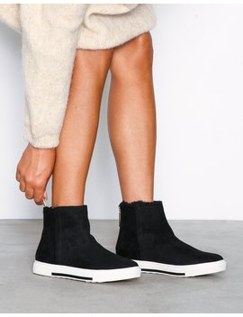 Fur Lined High Top Trainers by River Island