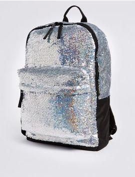 Kids' Sparkle Sequin Rucksack by Marks & Spencer