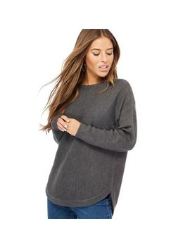 The Collection Petite   Grey Dolman Sleeve Petite Jumper by The Collection Petite