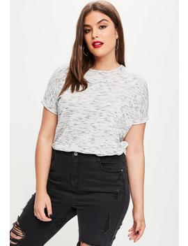 Plus Size Grey Space Dye Oversized T Shirt by Missguided