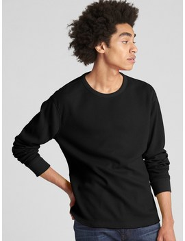 Long Sleeve Classic T Shirt In Waffle Knit by Gap