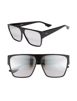 62mm Flat Top Square Sunglasses by Dior