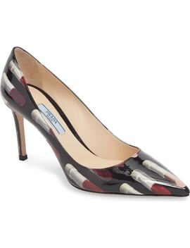 Pointy Toe Lipstick Pump by Prada