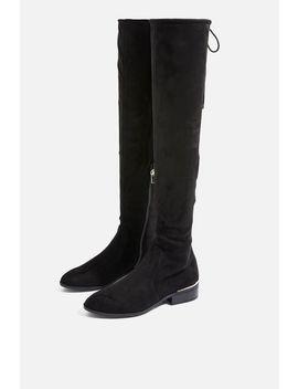 Beau High Leg Flat Boots by Topshop