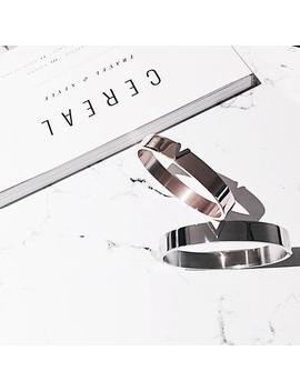 Rose Gold Minimal Bangle, Simple Bracelet, Initial Silver Bangle, Bridesmaid Bracelet, Handmade Jewelry, Love Cuff Bangle, Friendship Gift by Etsy