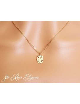 Choose Rose Gold, Silver Or Gold Owl Necklace Elegant And Dainty Low Shipping by Etsy