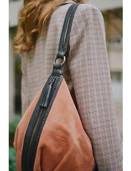 Serena Suede Slouchy Backpack by Free People