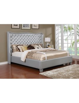 Best Quality Furniture Upholstered Panel Bed by Best Quality Furniture