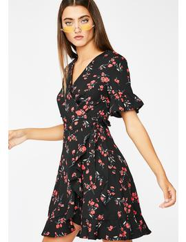 Blooming Babe Wrap Dress by Lelis