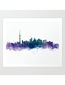 Toronto Skyline Art Print by