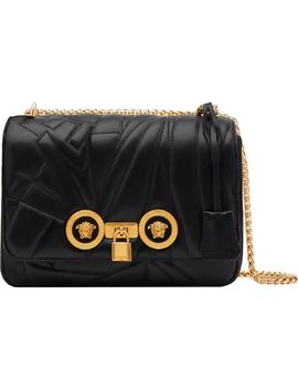 Icon Logo Quilted Leather Shoulder Bag by Versace