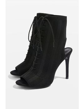 Sandy Lace Up Sock Boots by Topshop