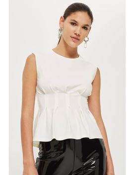 Cinched Waist Sleeveless Top by Topshop