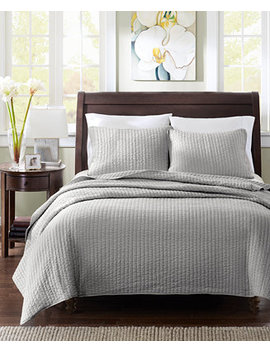 Keaton 3 Pc. Quilted Full/Queen Coverlet Set by Madison Park