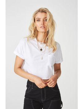 Kerry Pocket Crop Tee by Cotton On