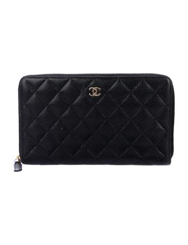 Caviar Quilted Organizer Wallet by Chanel