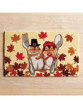 Chipmunk Couple Doormat by Grateful Harvest Collection